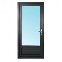 Porte Fenêtre 1 Vantail PVC Gris 7016 215x90 cm  Tirant Gauche