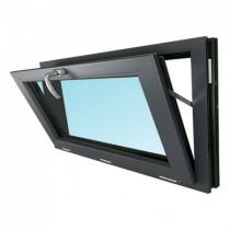 Fenêtre Abattant PVC Gris 7016 45x90 cm OB Verre Granité