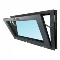 Fenêtre Abattant PVC Gris 7016 60x120 cm