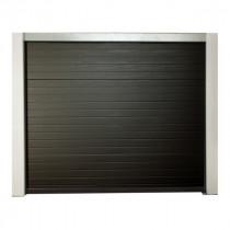 Porte de garage sectionnelle motorisée H 200 Larg 240 cm Gris
