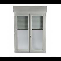 Fenêtre PVC  2 vantaux volet électrique intégré 145 x 100 cm