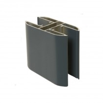 Poteau Alu gris anthracite 2,3 m pour Clôture Ambre 100 x 50 mm