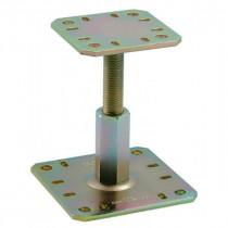 Pied de Poteau Réglable à Boulonner 100 mm Zingué Simpson PPRC