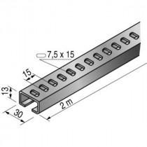 Profil en U pour Chemin de Câble 2000x30x13mm Niedax 448002