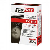 Enduit de Rebouchage en Poudre Toupret TX110 Extra Blanc Etui 2 kg