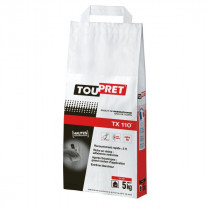 Enduit de Rebouchage en Poudre Toupret TX110 Extra Blanc Sac 5 kg