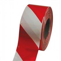 Ruban de Signalisation Adhésif 50 mm x 33 m Rouge et Blanc Viso RSA335RB