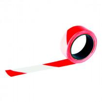 Ruban de Chantier Rouge et Blanc Rubaplast 100 m x 50 mm Taliaplast
