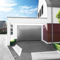 Porte de Garage Sectionnelle Sans Nervures Satin Novoferm Iso 45