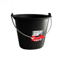Seau de Maçon Plastique Noir Taliagom 13 litres Anse 5,3 mm