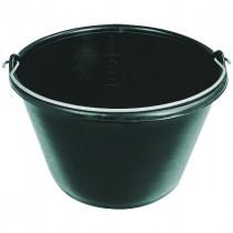 Seau de Maçon Plastique Noir Taliaplast 16 llitres Anse 5,3 mm