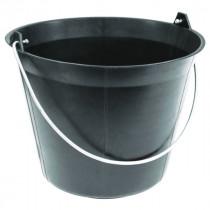 Seau de Maçon Plastique Noir Taliaplast 11 litres Anse 5,3 mm