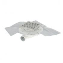 Siphon Extra Plat ⌀ 40 mm Inox 15 x 15 cm Docia Nicoll SFH15INC