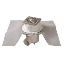 Siphon sortie horizontale 40/50mm grille Inox 10/10mm Nicoll SICA10VH