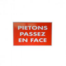 Panneau Piétons Passez En Face Rectangulaire 32 cm x 20 cm
