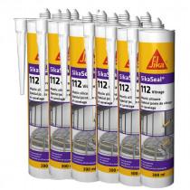 Mastic silicone SIKASEAL 112 Transparent pour vitrage, carton 12x300ml