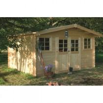 Abri de jardin bois autoclave SOLID modèle SION 418x328 cm