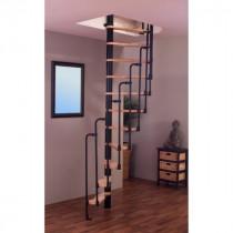 Escalier Colimaçon Gain de Place Bois et Métal Fritz Suono 120 x 65 cm