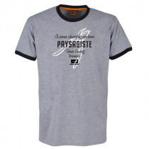Tee-shirt Bosseur Paysagiste Gris Chiné