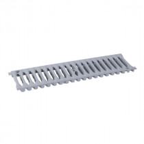 Grille seule A15 Connecto Nicoll Gris Clair 100 mm x 0,50 m
