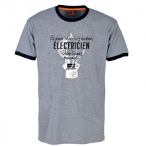 Tee-shirt Bosseur Electricien Gris-chiné