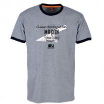 Tee-shirt Bosseur Maçon Gris-chiné