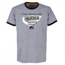 Tee-Shirt Bosseur Facadier Gris Chiné