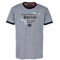 Tee-shirt Bosseur Menuisier Gris-chiné