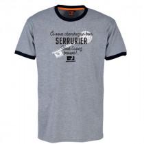 Tee-shirt Bosseur Serrurier Gris-chiné