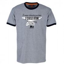 Tee-shirt Bosseur Forgeron Gris-chiné