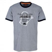 Tee-shirt Bosseur Jardinier Gris-chiné