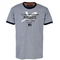 Tee-shirt Bosseur Plaquiste Gris-chiné