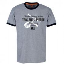 Tee-shirt Bosseur Tailleur de Pierre Gris-chiné