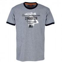 Tee-shirt Bosseur Zingueur Gris-chiné