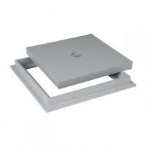 Tampon de sol PVC 20 x 20 cm Nicoll TRC20 gris clair avec cadre
