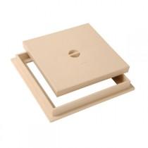 Tampon de sol PVC 20 x 20 cm Nicoll TRC20S sable avec cadre