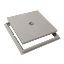 Tampon de sol PVC 30 x 30 cm Nicoll TRC30 gris clair avec cadre