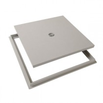Tampon de sol PVC 40 x 40 cm Nicoll TRC40 gris clair avec cadre