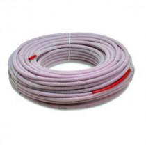 Tube PER Pré-gainé Rouge 12 mm, Couronne de 100 m