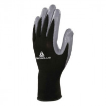 Gants de Manutention Deltaplus VE712GR Noir-Gris, lot de 10