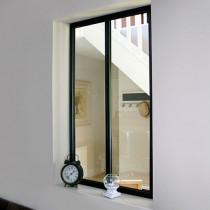 Verrière d'Atelier Alu Noir Kit 2 Carreaux 1080 x 632 mm