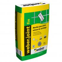 Mortier Joint Mince Gris Ciment pour Mur Weber.Joint Fin 5 kg