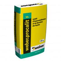 Enduit Grain Fin Imperméabilisation Décoration Façade Weber.Procalit F 25 kg