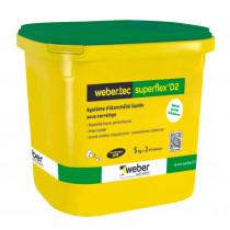 Etanchéité Liquide Sous Carrelage Weber.Tec Superflex D2 Kit de 5 kg