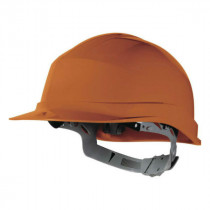 Casque de Chantier DeltaPlus Zircon 1 Orange, Taille Ajustable