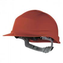 Casque de Chantier DeltaPlus Zircon 1 Rouge, Taille Ajustable