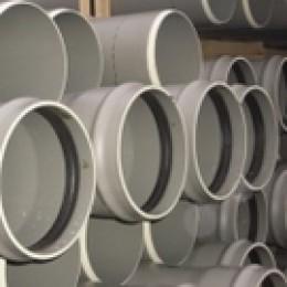 Tuyau PVC assainissement CR8 à joint Diam.125 mm L.3 m