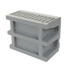 Courette d'aération Nicoll COUR7G couleur gris clair avec grille