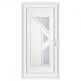 Porte d'entrée pvc LISA 3 carreaux poussant gauche, 200 x 90 cm