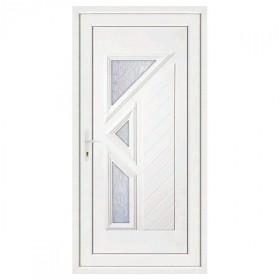 Porte d'entrée pvc LISA 3 carreaux poussant droit, 215 x 80 cm
